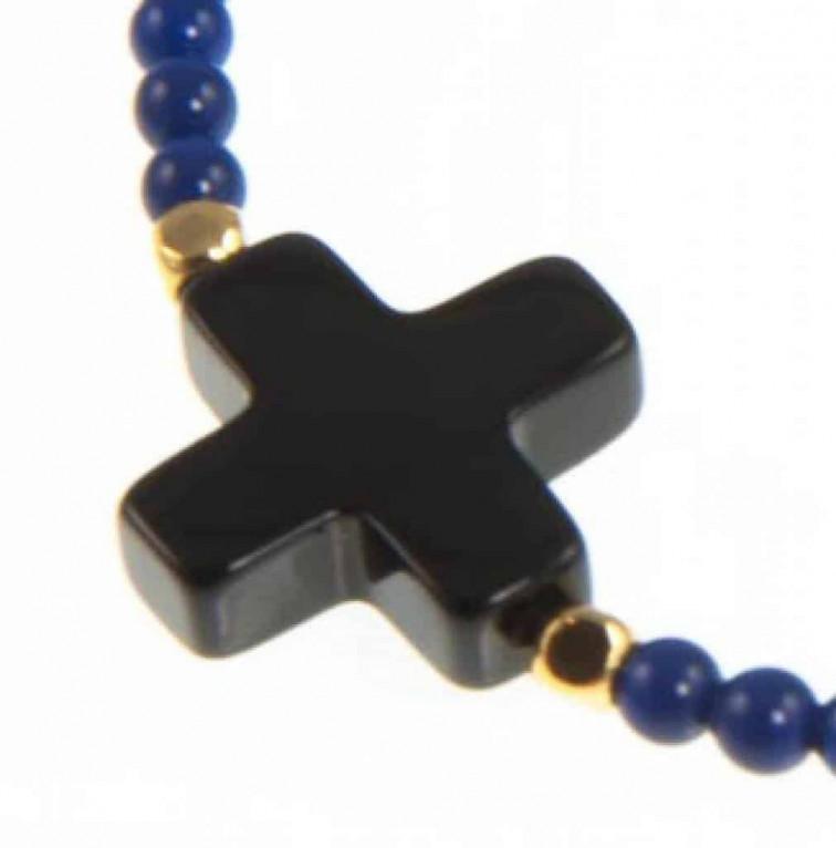 blauwe armband cross - Collectie Blinckstar 1