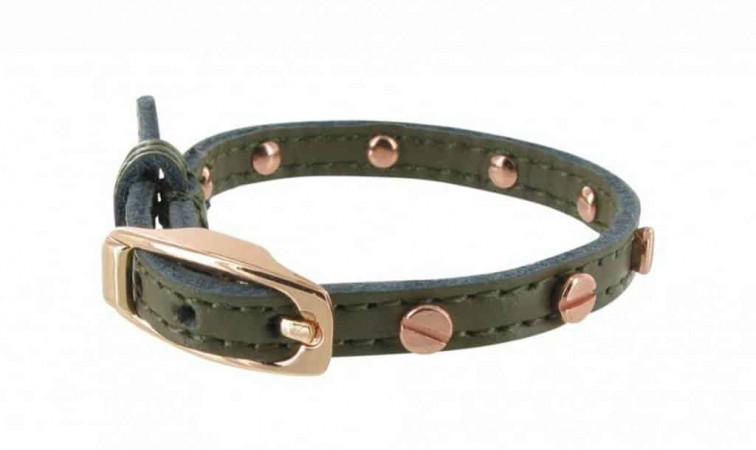 Groen Leren dames armband - Collectie B-loved 1