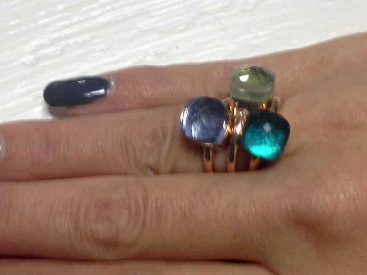 Ring met vierkante steen - Fiell fashion Jewellery 1