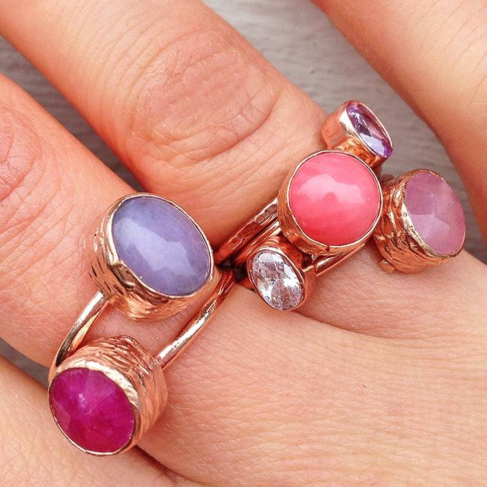 My Jewellery ringetje oval fuchsia 1