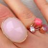 Goedkope ringen met steen pink - My Jewellery 2