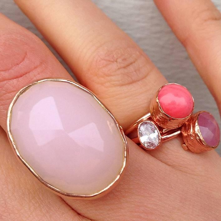 Goedkope ringen met steen pink - My Jewellery 1