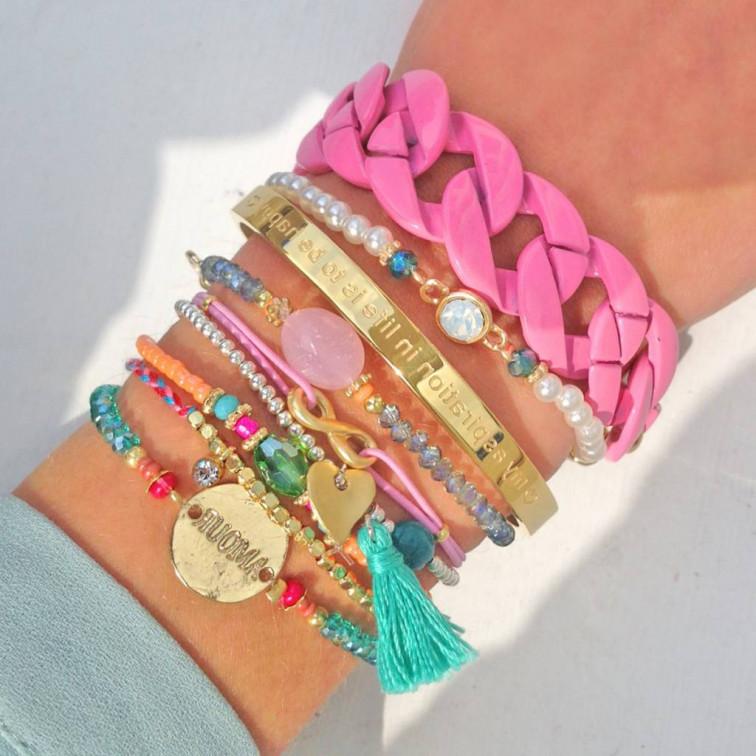 Oranje kralen armband - My Jewellery 1