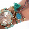 Gevlochten armbandje pink/blue - MyJewellery 2