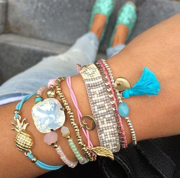 Ananas armbandje roze - My Jewellery 1