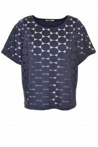 donkerblauw dames shirt