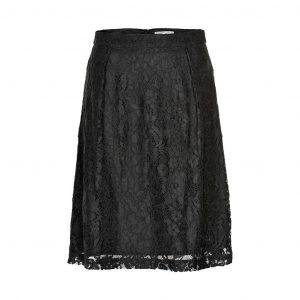 zwarte kanten rok