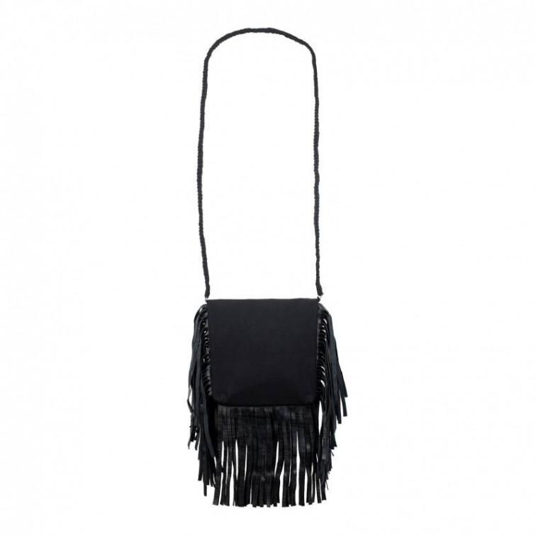 Zwarte tas met franje - Collectie Loom & Lace 1