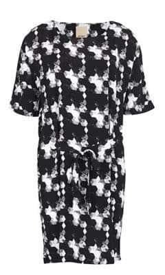 jurk zwart wit