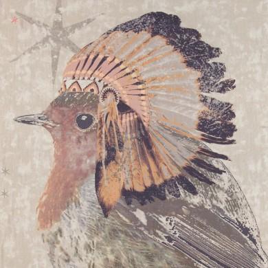 Zandkleurige sjaal Indian bird - Birds on the Run 1