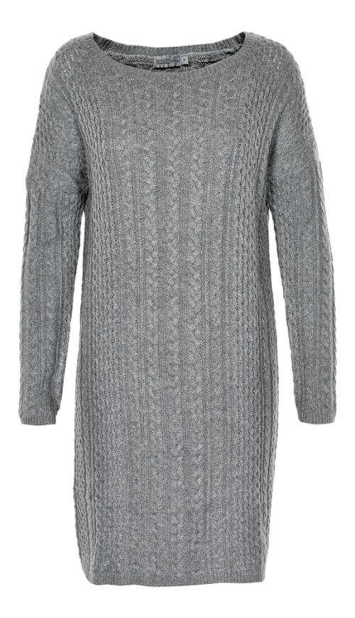 grijze sweater jurk
