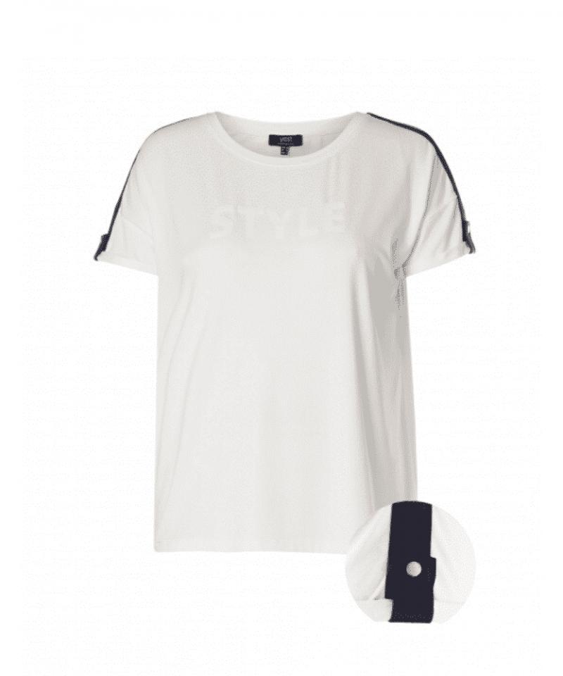 wit t shirt dames