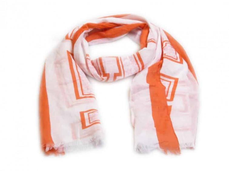 witte sjaal dames met coral details
