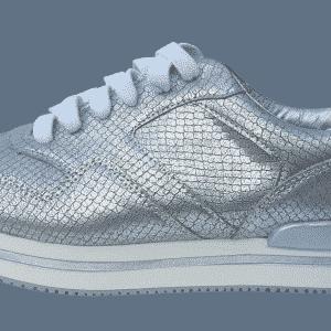 zilveren sneaker