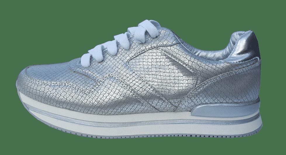zilverkleurige sneaker