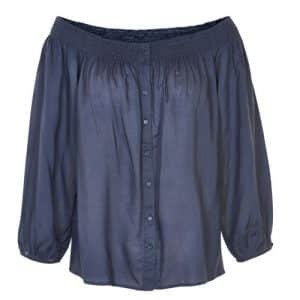 donkerblauwe blouse