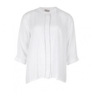 dames blouse wit circle