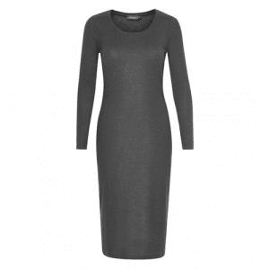 grijze jurk lange mouwen