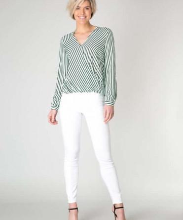 groene blouse met strepen