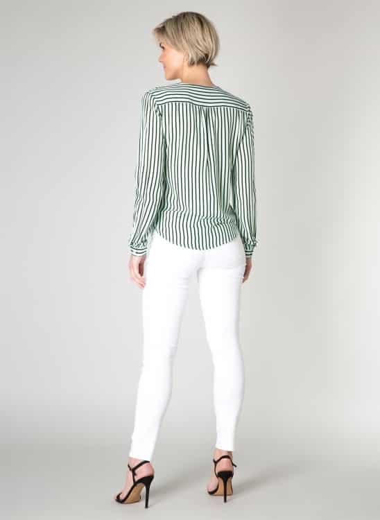 Groene blouse met strepen- Yest 1