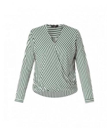 blouse met groene strepen