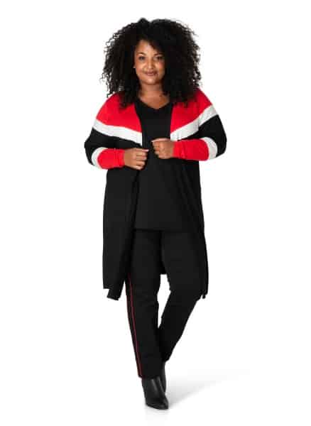 Lang zwart vest - By Bella Plus size kleding 1