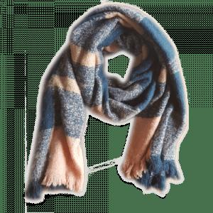 ichi sjaal roze en blauw