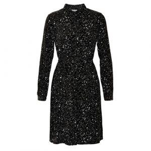 zwarte jurk lange mouw miley