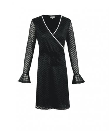 zwarte jurk lange mouw