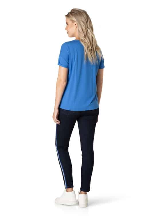 T shirt dames Electric blue - Yest 1