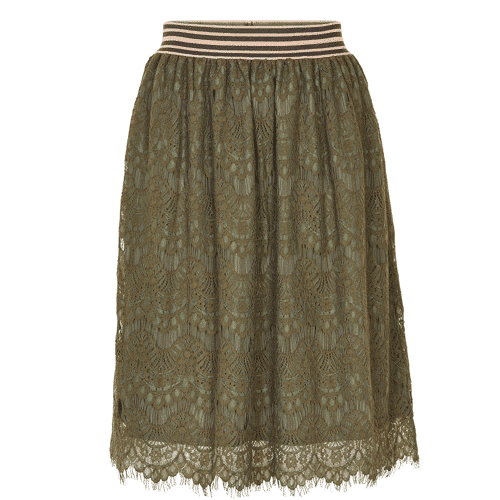 olijfgroene rok achterkant