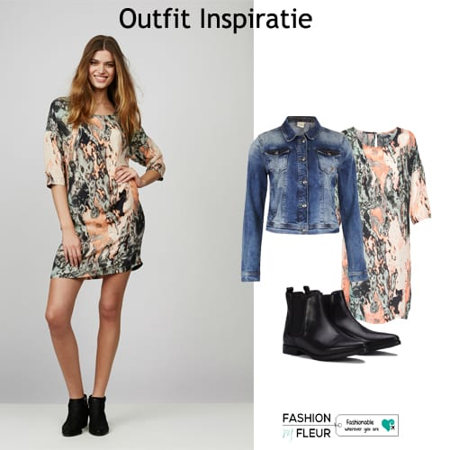 Jurk met print Paint - Outfit Inspiratie 15