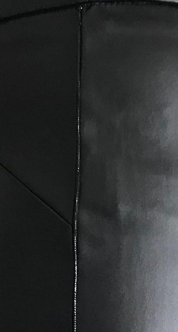 zwarte kokerrok detail