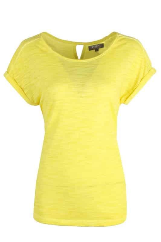 geel t shirt dames