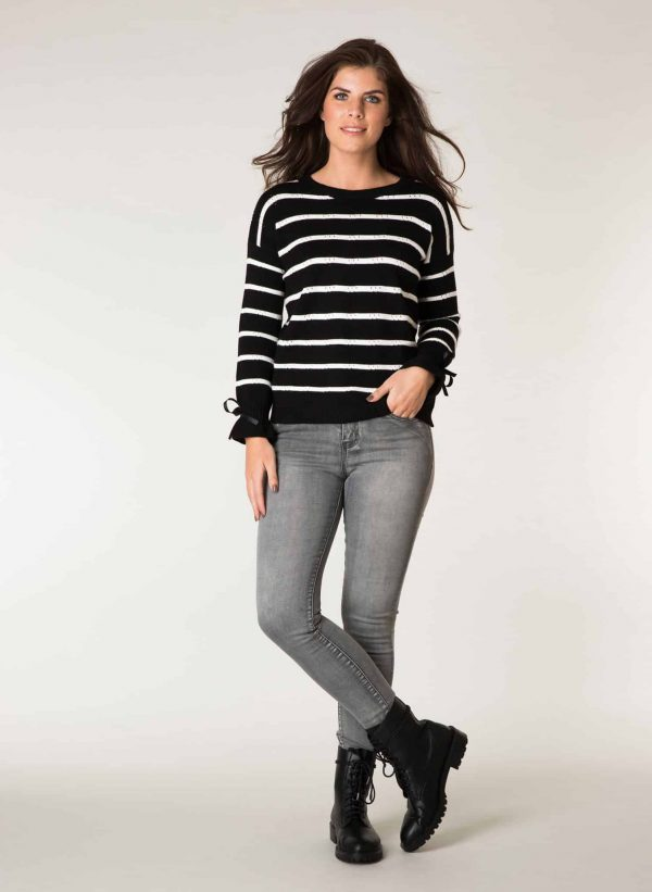 zwart witte trui
