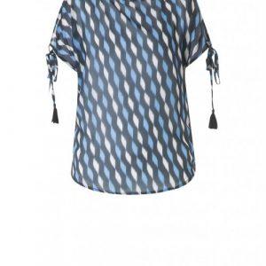 blauwe blouse