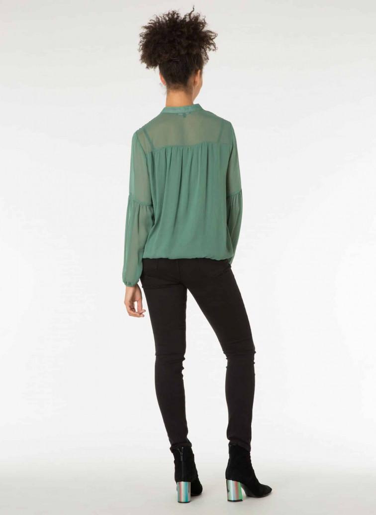 Groene dames blouse - Yest kleding 2