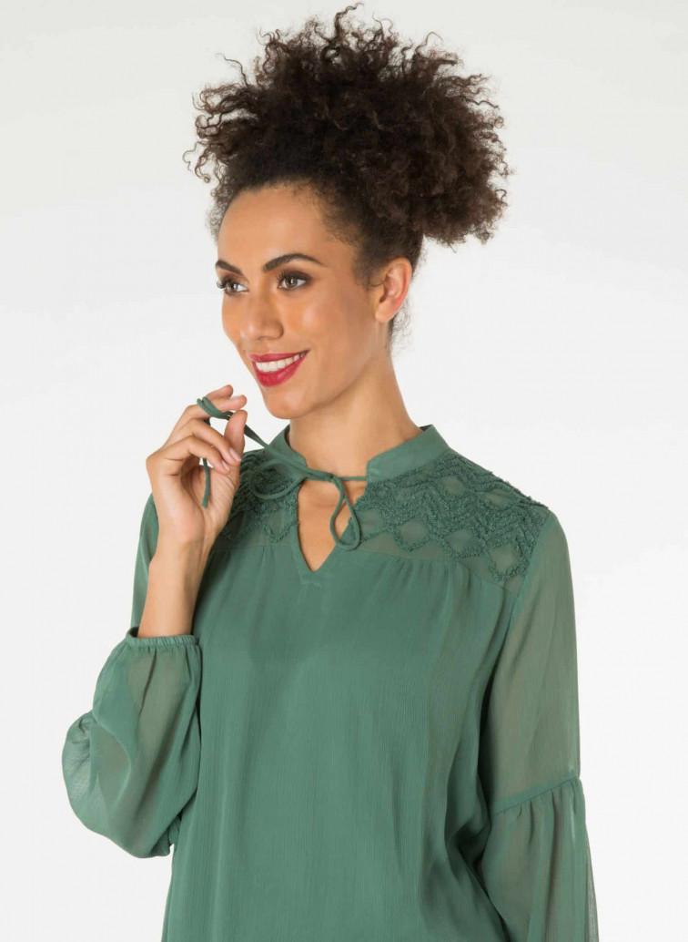 Groene dames blouse - Yest kleding 1