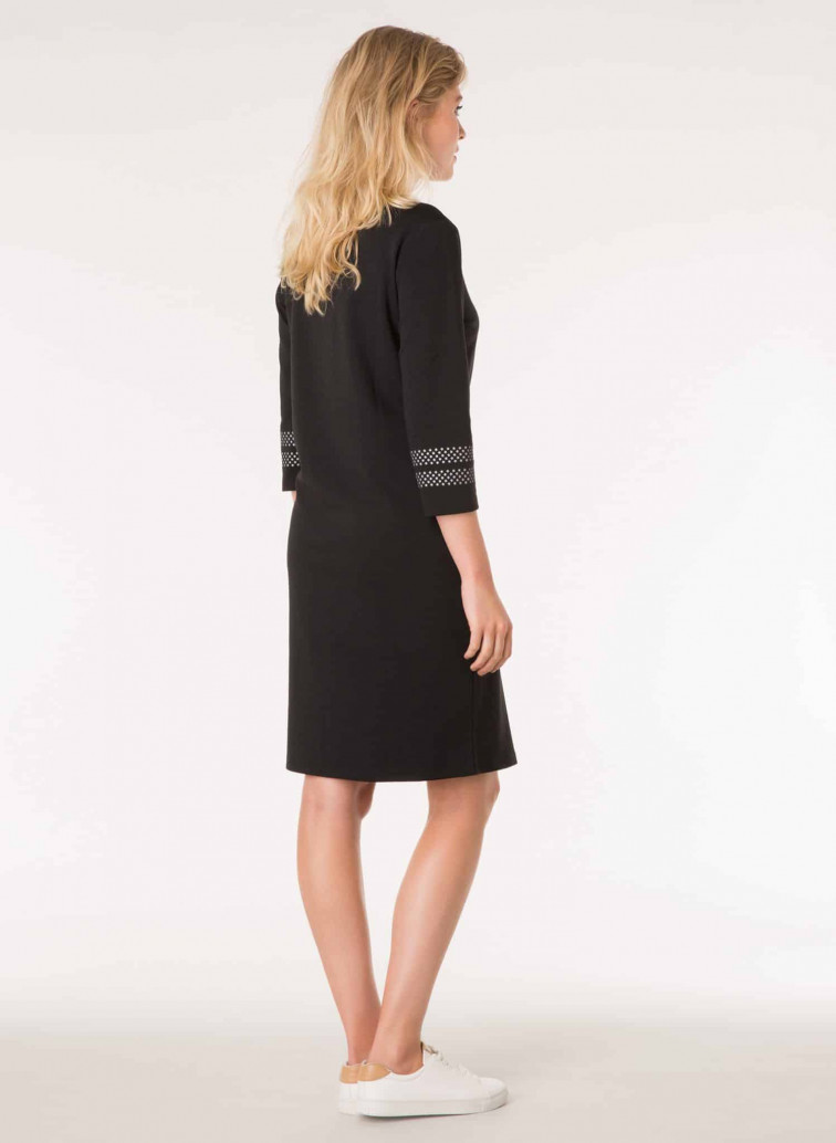 Zwarte jurk met sterren - Yest colletie 1