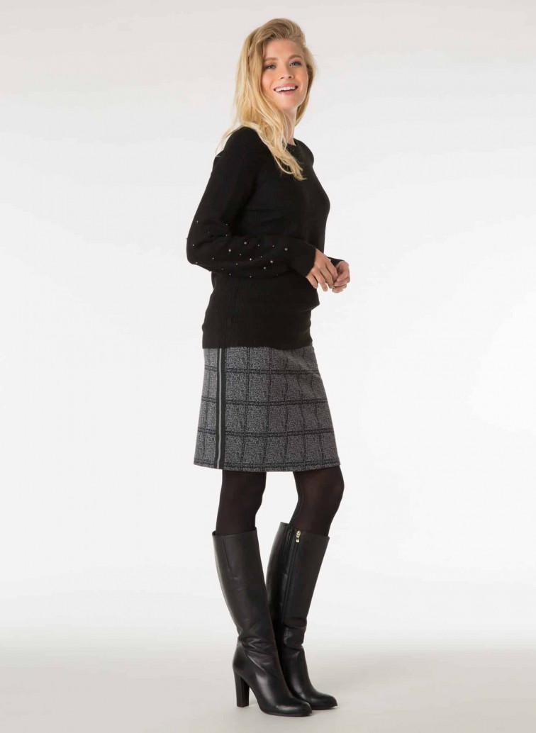 Grijs geruit rokje - Yest fashion collectie 2