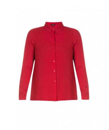 rode blouse dames