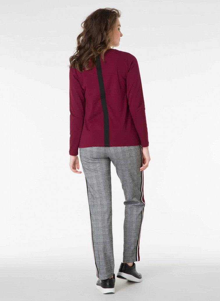 Geruite broek dames - Yest kleding 1