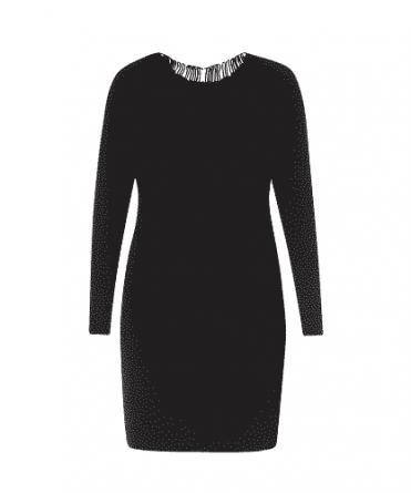 zwarte jurk yest