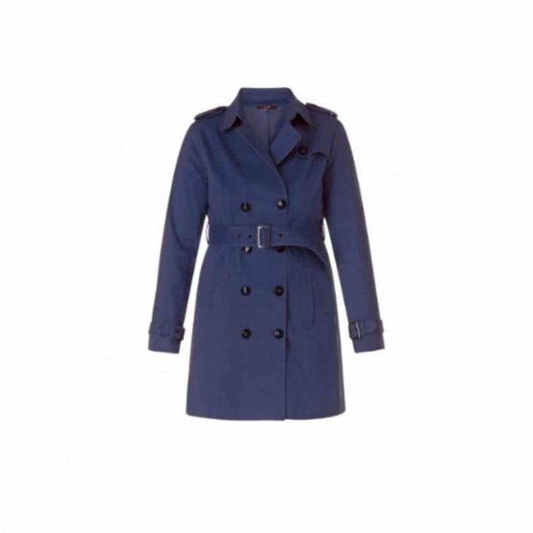 blauwe trenchcoat
