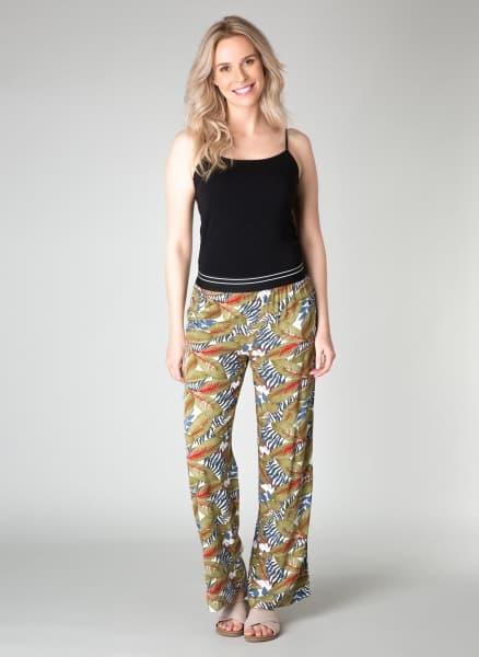 broek met tropische print