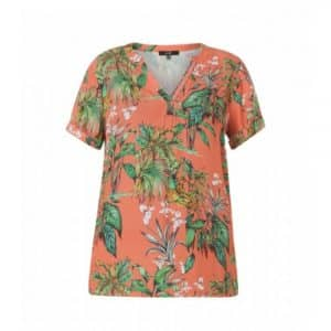 damesshirt met tropische print