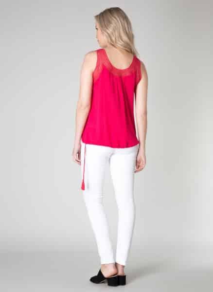 Felroze top Karolien -Yest kleding 1