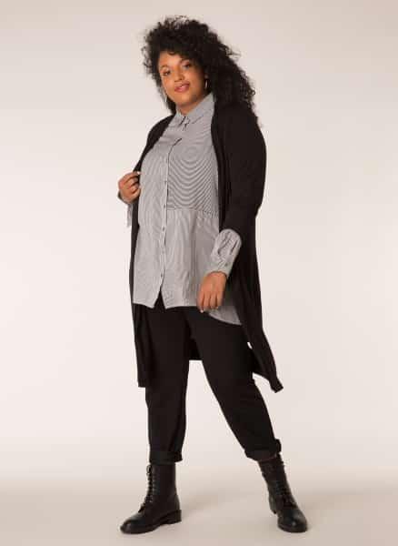 Zwart damesvest - By Bella Plus size kleding 1