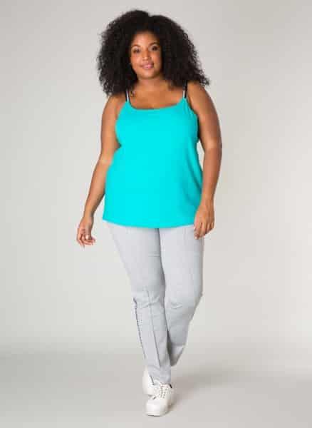 Aqua blauwe top - Ivy Bella Plus size kleding 1