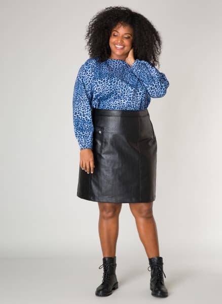 Lederlook rok - Ivy Bella Plus size kleding 1